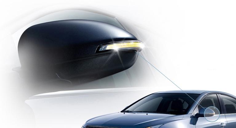LED-повторювачі сигналів повороту бічних дзеркал заднього виду