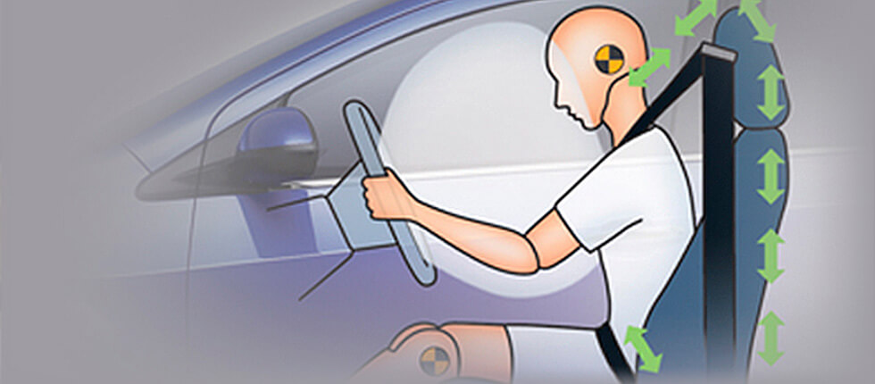 Ремені безпеки з подвійними переднатягувачами